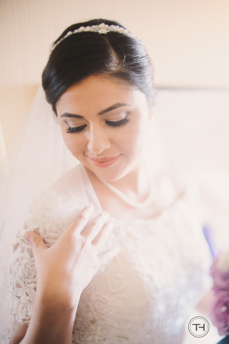 Bridal Portrait in Hotel Maya Double Tree Hotel in Long Beach California, Krystal Diaz, Pirkl by Tommy Huynh
